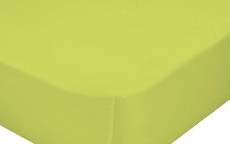 Elastické prostěradlo 90x200 cm, zelené