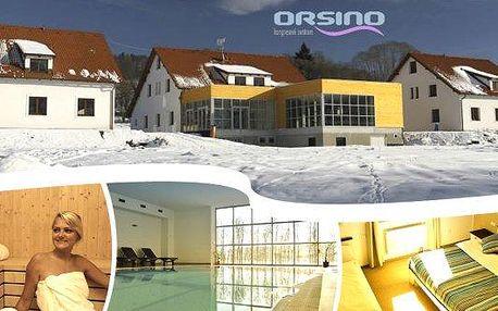 Luxusní wellness pobyt ve 4* hotelu Orsino na 3 nebo 4 dny pro 2 osoby!! Polopenze, vstupy do bazénu a sauny, welcome drink, slevy na skipasy, vstupy do aquaparku a mnohem více!! Vychutnejte si odpočinek u lipenské přehrady!!