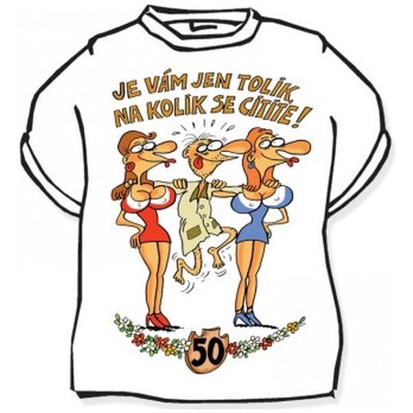 Divja Výročí muž 50 tričko pánské bílé - L