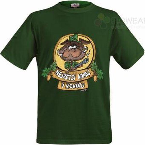 Tričko - Největší kanec - zelené - XXXL