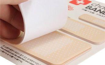 Poznámkové papírky v podobě náplastí