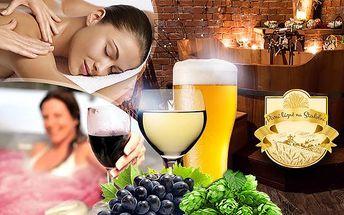 Luxusní vinné nebo pivní lázně pro 2 osoby v Ostravě ve Stodolní! 60 nebo 90 minut relaxace s vínem nebo pivem!