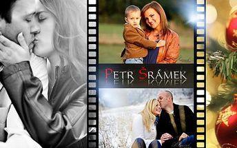 Až 3hod. profesionální fotografování! 30-40 rodinných či uměleckých fotografií + dig. úprava, tisk vybraných fotek!