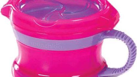 Munchkin Růžovo-fialový svačinový hrneček Click Lock