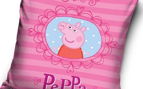 Tip Trade polštářek Peppa Pig - Pepina v zrcadle, 40 x 40cm