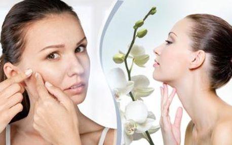 60minutové ošetření problematické a aknózí pleti nebo liftigová kolagenová kúra s použitím přírodní kosmetiky.