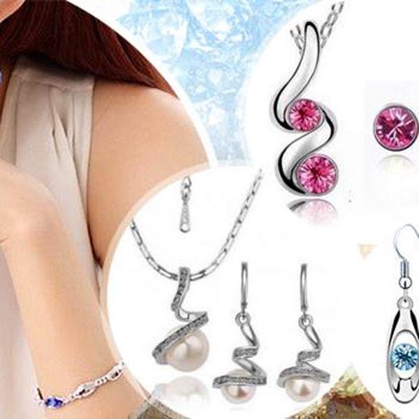 Sety šperků: náhrdelník, přívěsek a náušnice pro dámy! Různé barvy a tvary, na výběr i šperky s perlami!