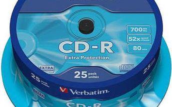 Disk Verbatim Extra Protection CD-R 700MB/80min, 52x, 25-cake (43432)