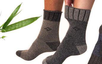 6 párů antibakteriálních thermo ponožek