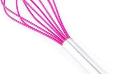 Metla šlehací silikonová 28 cm, růžová RENBERG RB-3654ruzo