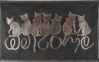 BO-MA Trading Venkovní rohožka Sedící kočky, 45 x 75 cm