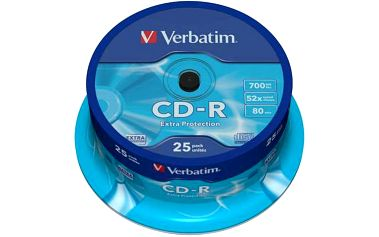 Disk Verbatim Extra Protection CD-R 700MB/80min, 52x, 25-cake (43432)