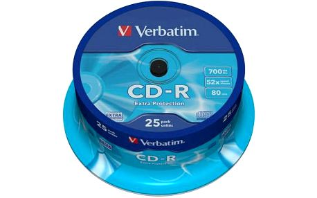 Verbatim Extra Protection CD-R 700MB/80min, 52x, 25-cake (43432)