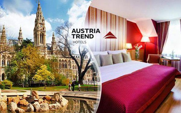 Vídeň! 3denní pobyt pro 2 osoby včetně snídaní ve 4* hotelu v historickém centru města s platností 1 ROK!