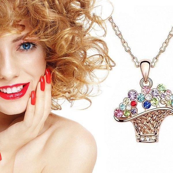 Luxusní set s kamínky Swarovski Elements. Hravý šperk pro ženy každého věku!