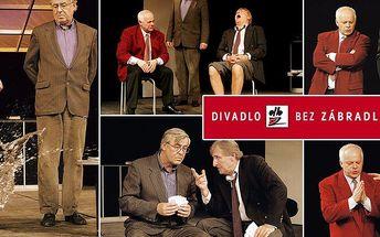"""Vstupenka na divadelní komedii """"Tři muži na špatné adrese"""" v Plzni v hvězdném obsazení."""