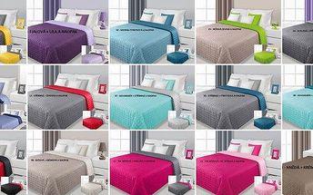 Nádherný moderní přehoz na postel! Jsou oboustranné, změnou barvy změníte i design pokoje! Vyberte si z 15 barev! Jsou vhodné pro všechny styly interiérového designu, díky modernímu barevnému provedení! Zaručeně snadná údržba a stálost barev!