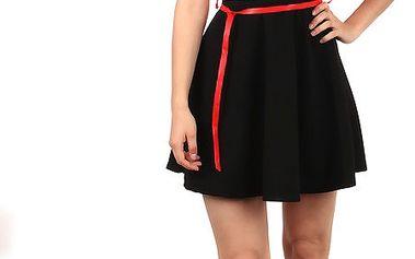 Moderní pruhované šaty v retro stylu světle růžová