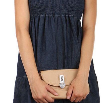 Vzdušné denim letní šaty se vzorem