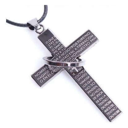 Pánský náhrdelník s křížem - dodání do 2 dnů