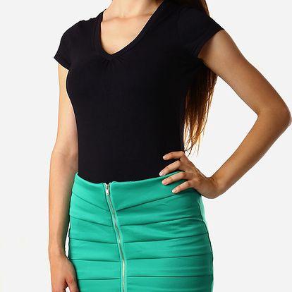 Zeštíhlující sukně se zipem zelená