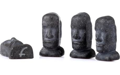 Chladící kameny Moai