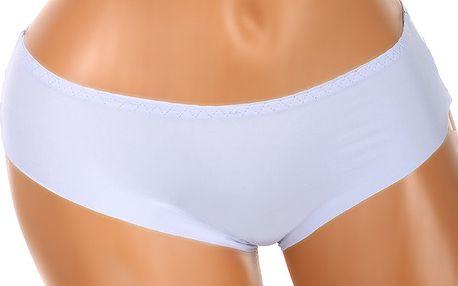 Bezešvé kalhotky s krajkou na zadním dílu fialová