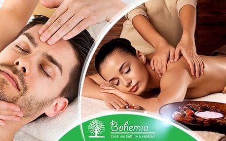 Indonénská masáž zad Bali nebo Indická masáž hlavy vč. plosek nohou. Vyberte si masáž a 70 minut relaxujte.