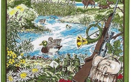Forbyt Textilní kalendář 2016 Myslivecký, 45 x 65 cm