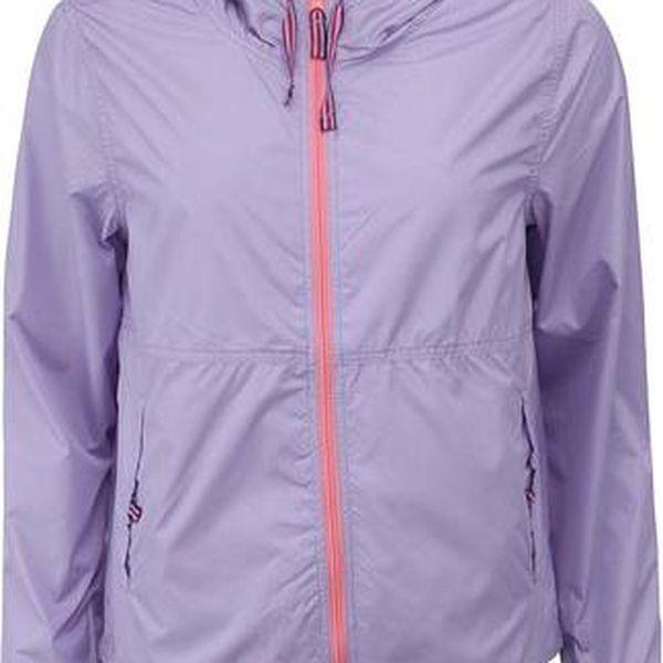 Světle fialová dámská bunda s kapucí Brave Soul Dubarry