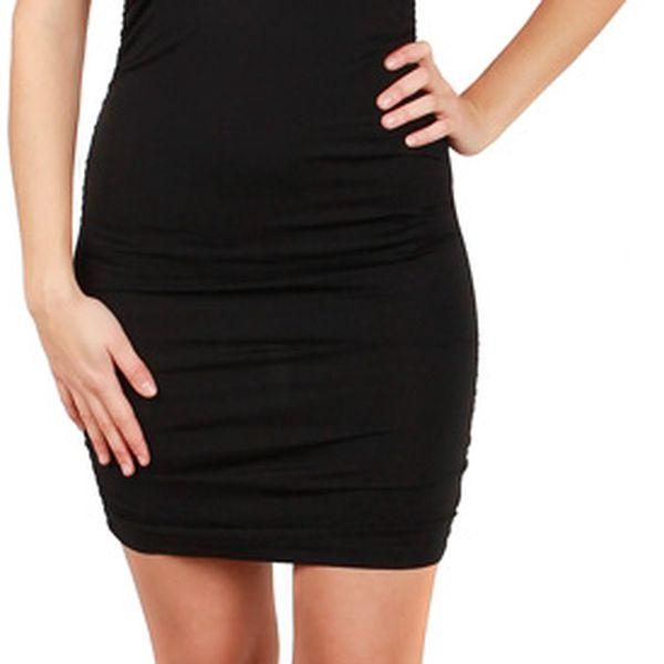 Společenské šaty s krajkou - party šaty tyrkysová2