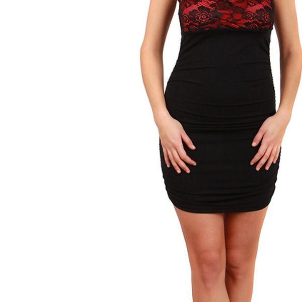Společenské šaty s krajkou - party šaty tyrkysová4