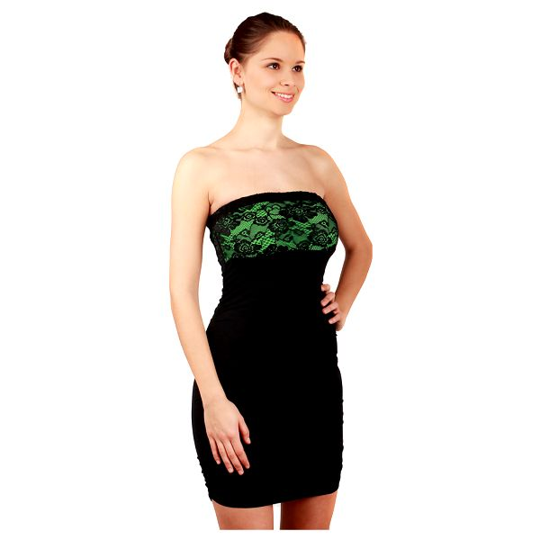 Společenské šaty s krajkou - party šaty tyrkysová5