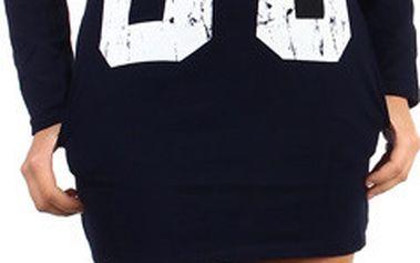 Moderní tričko/šaty s výrazným nápisem černá