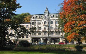 MAR. LÁZNĚ: nádherný Hotel Polonia*** přímo na kolonádě 3 dny plnou penzí a masážemi pro 2