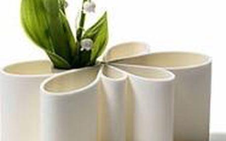 Silikonová bílá váza