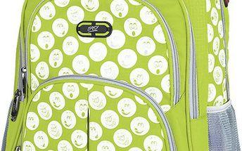 EASY školní-sportovní batoh zelený se smajlíky (S833920)