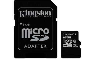 Kingston MicroSDHC 16GB UHS-I U1 (45MB/s) + adaptér (SDC10G2/16GB)