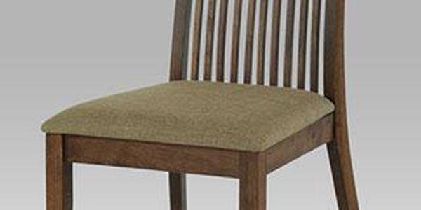 Jídelní židle klasická v barvě ořech s pískovým potahem ALA 01117