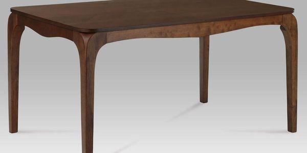 Jídelní stůl s rustikálními tvary v dekoru ořech ALA 011018 AKCE