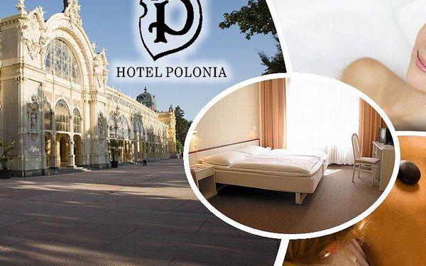 Nabitý lázeňský balíček s plnou penzí v hotelu Polonia*** pro dva. V ceně wellness procedury!