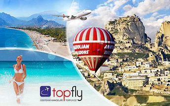 Turecko - Kappadokie a riviéra letecky! Luxusní zájezd na 8 dní pro 1 osobu se snídaněmi a programem!