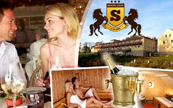 Romantika v Resortu Stein pro 2 osoby na 3 dny u Františkových Lázní. Čeká Vás 4chodová romantická večeře při svíčkách, aroma sauna a relaxační aromatická koupel ve dvojvaně se svíčkami a sektem! Prožijte společné chvíle v luxusním wellness a ochutnejte v