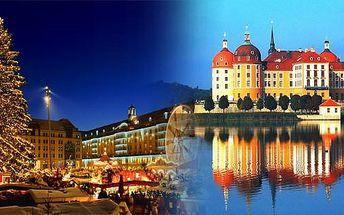 Adventní Drážďany a zámek Moritzburg