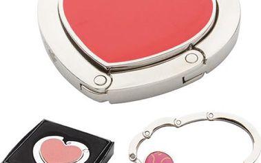 Věšák na kabelku v podobě srdce - skladovka