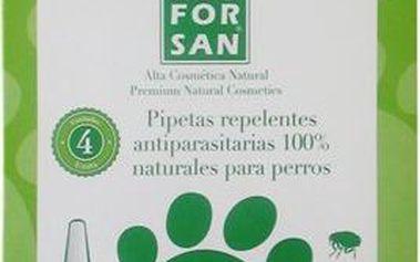 Menforsan Antiparazitní pipety pro psy (100% Natural Repellent Anti-parasite Spot on for Dogs) 4 x 1,5 ml