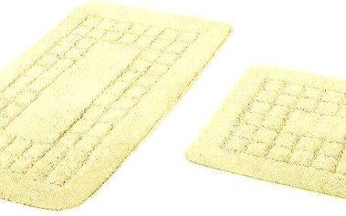 Euromat Sada koupelnových předložek Pearl krémová, 80 x 50 cm, 50 x 40 cm