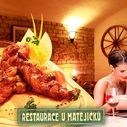 Menu pro 1 osobu v centru Prahy! 1x vepřový pletenec z panenské svíčkové + hořčičnosmetanová omáčka + příloha!