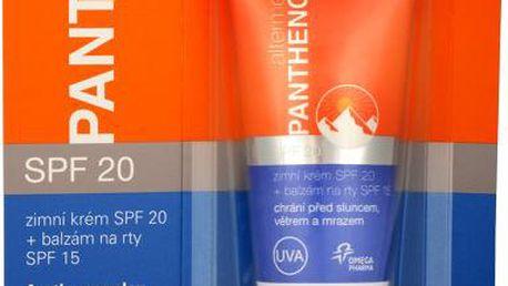 Omega Pharma Panthenol 2v1 - zimní krém SPF 20 20 ml + balzám na rty SPF 15 3 g + Panthenol Forte balzám na rty SPF 15 4,3 g ZDARMA