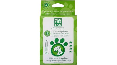 Menforsan Antiparazitní pipety pro psy (100% Natural Repellent Anti-parasite Spot on for Dogs) 4 x 1,5 ml